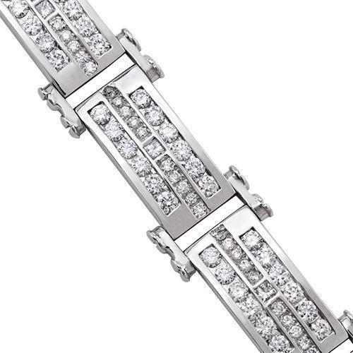 Diamond Tree Row Bracelet in 14k White Gold 8 Ctw