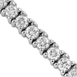10K White Gold Mens Diamond Prong Set Tennis Chain 68.71 Ctw