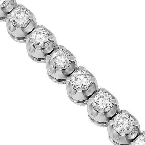10K White Gold Mens Diamond Tennis Chain 7.00 Ctw