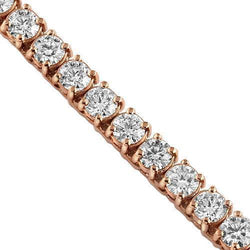 14K Rose Gold Mens Diamond Tennis Chain 37.94 Ctw