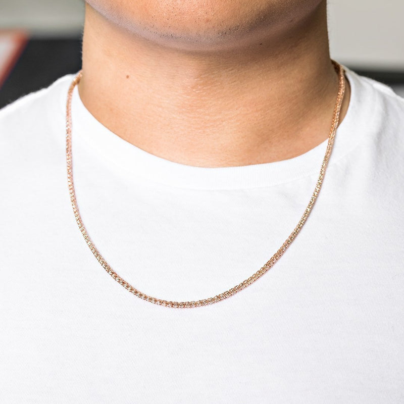 14k Rose Gold Tennis Chain 22 Inches 5.40 Ctw