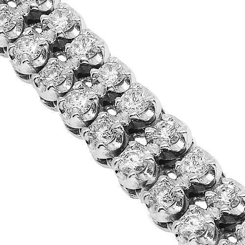 14K White Gold Mens Diamond Chain 33.00 Ctw