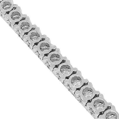14K White Gold Mens Diamond Tennis Chain 17.90 Ctw