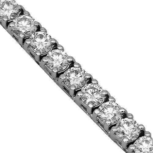 14K White Gold Mens Diamond Tennis Chain 41.00 Ctw