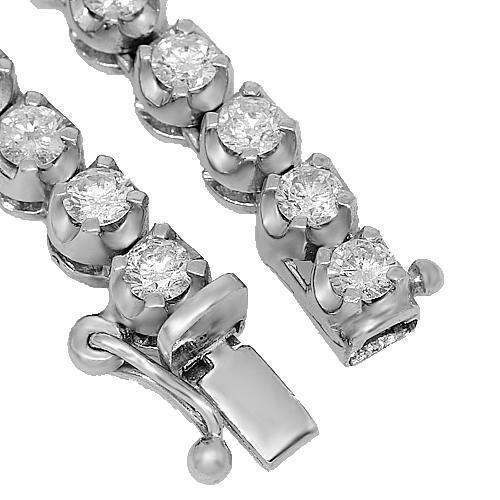 14K White Gold Mens Diamond Tennis Chain 8.50 Ctw