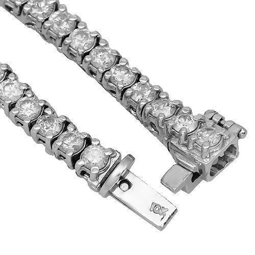 14K White Gold Womens Diamond Tennis Chain 11.00 Ctw