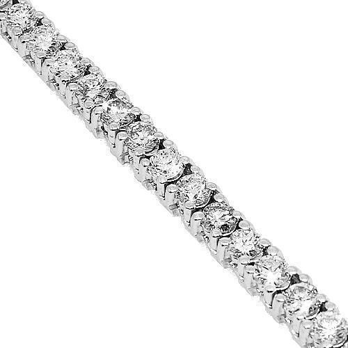14K White Solid Gold Mens Diamond Tennis Chain 25.50 Ctw