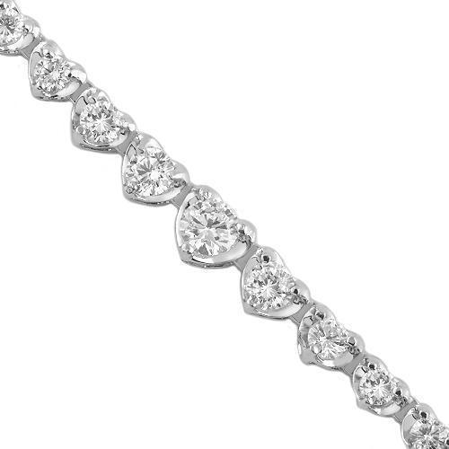 14K White Solid Gold Womens Diamond Necklace 4.90 Ctw