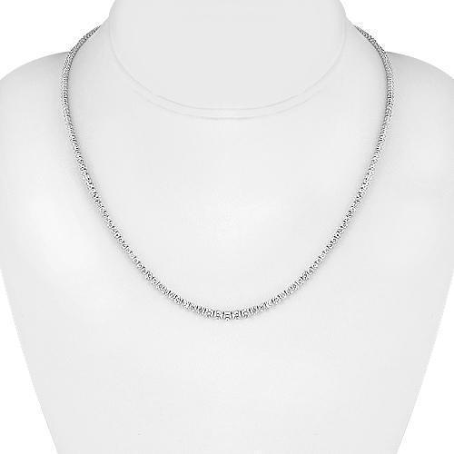 14K White Solid Gold Womens Diamond Necklace 5.50  Ctw