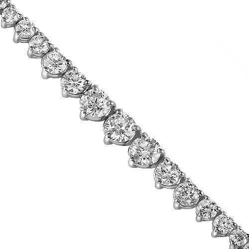 14K White Solid Gold Womens Diamond Necklace 6.50 Ctw