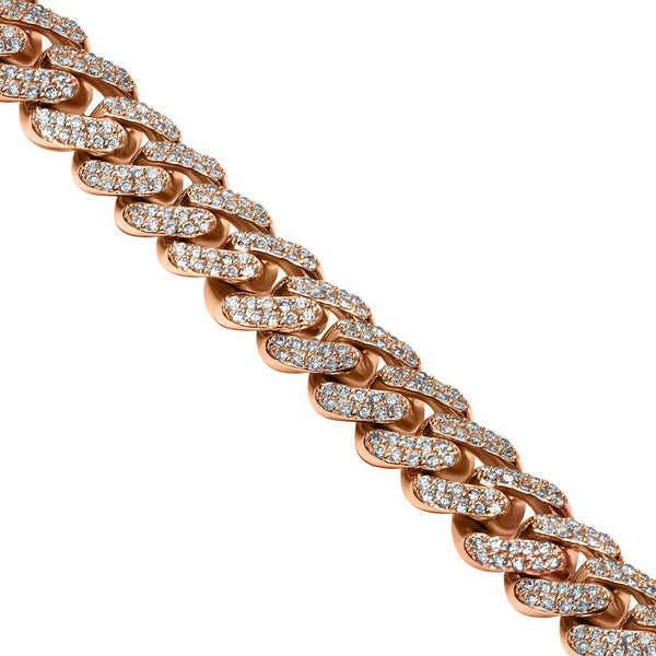 Yellow 14K Yellow Gold Diamond Cuban Chain 11.86 Ctw