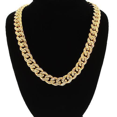 14K Yellow Gold Mens Diamond Cuban Chain 9.45 Ctw