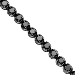 Black Diamonds Tennis Chain Necklace in 10k Rhodium Plated Gold 33 Inches 95 Ctw 7 mm