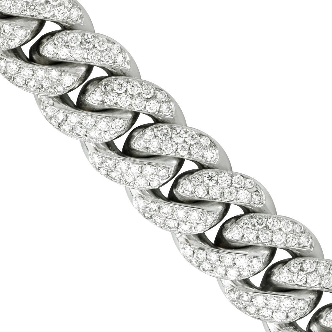 98536c8aaefb2 Diamond Cuban Link Chain in 14k White Gold 14.5 mm 21.11 Ctw ...