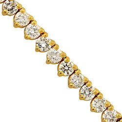 Diamond Tennis Chain 10k Yellow Gold 26 inches 19 Ctw 4 mm