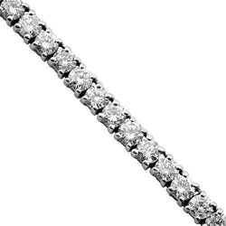 Diamond Tennis Chain in 10k White Gold 22 inches 24 Ctw