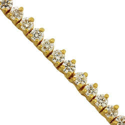 Diamond Tennis Chain in 10k Yellow Gold 24 inches 17 Ctw 4 mm