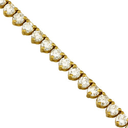 Diamond Tennis Chain in 10k Yellow Gold 25 inches 17 Ctw 4 mm