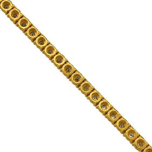 Diamond Tennis Chain in 10k Yellow Gold 26 inches 5.04 Ctw 4 mm