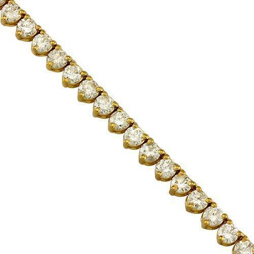 Diamond Tennis Chain in 10k Yellow Gold 27 inches 26 Ctw 4.5 mm