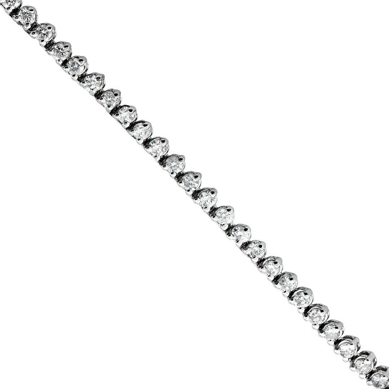 Diamond Tennis Chain in 14k White Gold 26 inches 12 Ctw