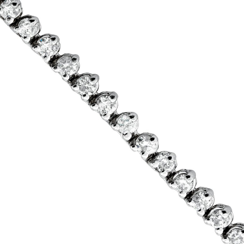 Diamond Tennis Chain in 14k White Gold 26 inches 9.26 Ctw