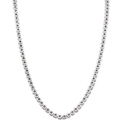 Diamond Tennis Chain in 14k White Gold 38 Ctw