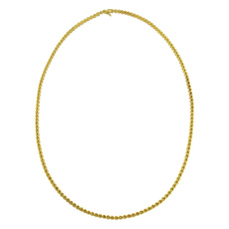 Diamond Tennis Chain in 14k Yellow Gold 13 Ctw