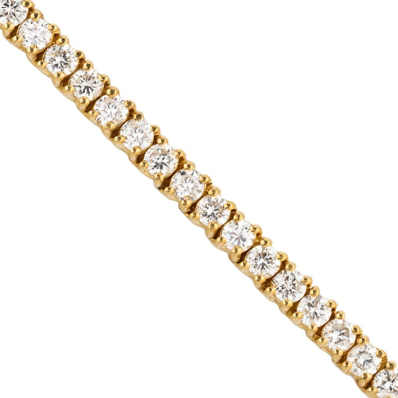 Diamond Tennis Chain in 14k Yellow Gold 20 Inches 3.5 mm 15.50 Ctw