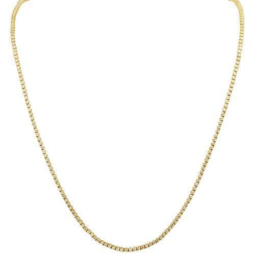 Diamond Tennis Chain in 14k Yellow Gold 26 inches 10.25 Ctw