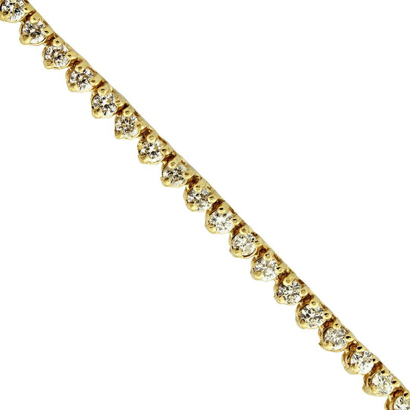 Diamond Tennis Chain in 14k Yellow Gold 26 inches 9.26 Ctw