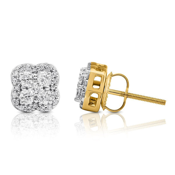 10K WHITE GOLD DIAMOND STUD EARRINGS 0.41 CTW