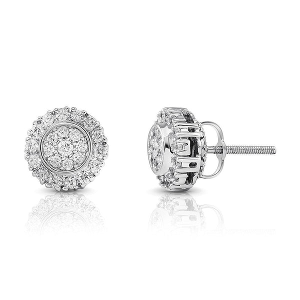 White 10K White GOLD DIAMOND STUD EARRINGS 0.51 CTW