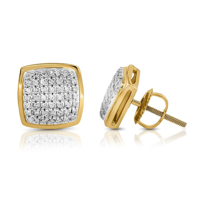 10K YELLOW GOLD DIAMOND STUD EARRINGS 0.25 CTW