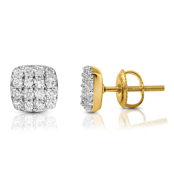 10K YELLOW GOLD DIAMOND STUD EARRINGS 0.50 CTW