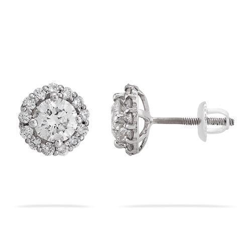 14k White Gold Diamond Earring 1.78ctw