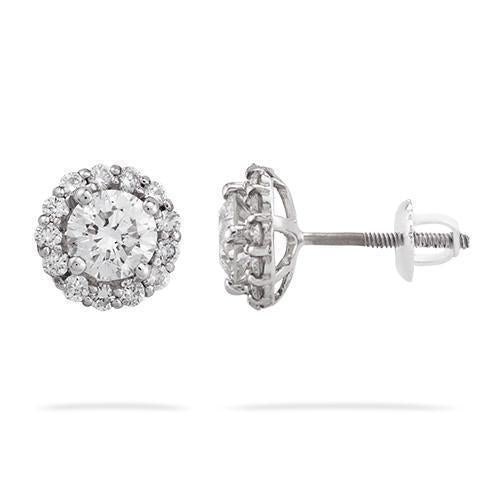 14k White Gold Diamond Earrings 2.29ctw