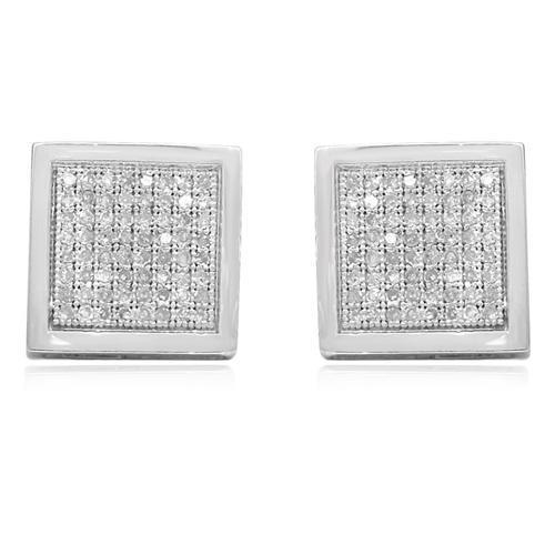 White 14K White Gold Diamond Stud Earrings 0.50 Ctw