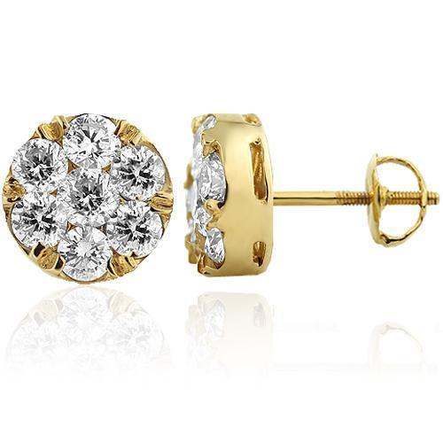 Diamond Cluster Earrin...1 2 Ctw Meaning