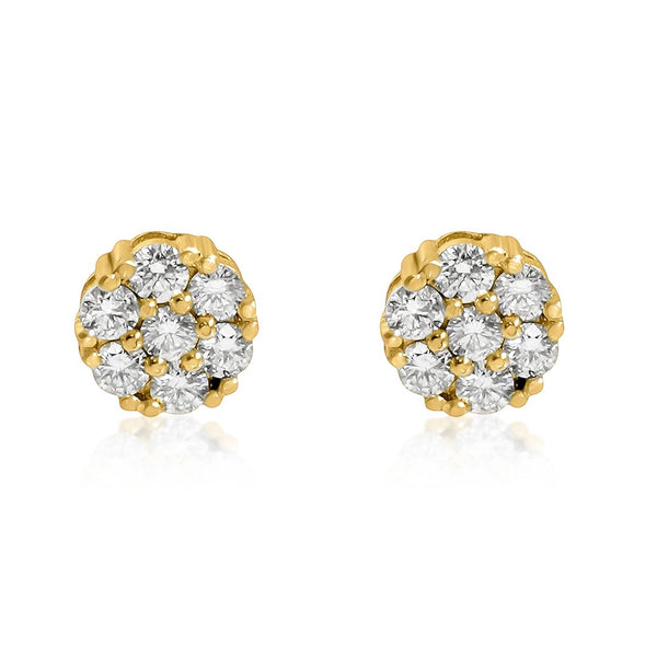 Diamond Earrings in 14k Yellow Gold 3.50 Ctw