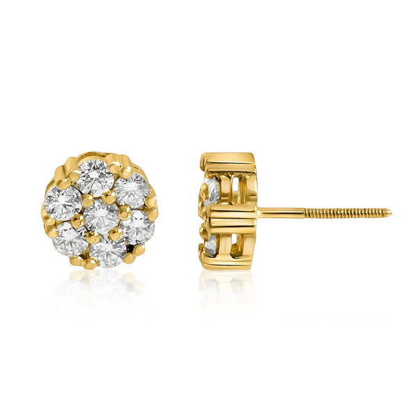 Yellow Diamond Earrings in 14k Yellow Gold 3.50 Ctw