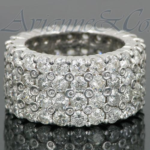 14K White Solid Gold Mens Diamond Eternity Ring Band 11.25 Ctw