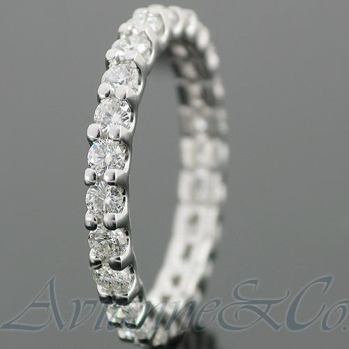 14K White Solid Gold Womens Diamond Eternity Ring Band 1.25 Ctw