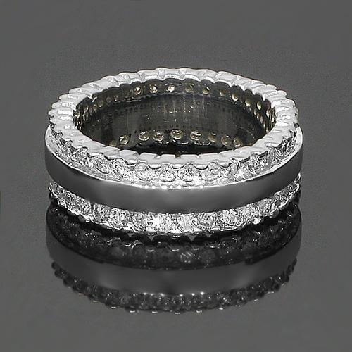 14K White Solid Gold Womens Diamond Eternity Ring Band 1.91 Ctw
