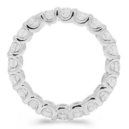 14K White Solid Gold Womens Diamond Eternity Ring Band 2.00 Ctw