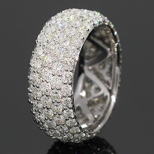14K White Solid Gold Womens Diamond Eternity Ring Band 3.89 Ctw