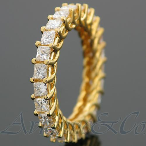 14K Yellow Solid Gold Womens Diamond Eternity Ring Band 2.65 Ctw