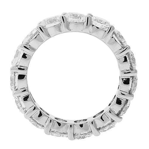 18K White Solid Gold Womens Diamond Eternity Ring Band 4.50 Ctw