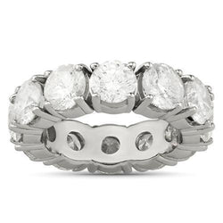 Clarity Enhanced Diamond Eternity Wedding Band 14k White Gold 12 Ctw