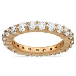 Diamond Eternity Band in 14k Rose Gold 4.25 Ctw